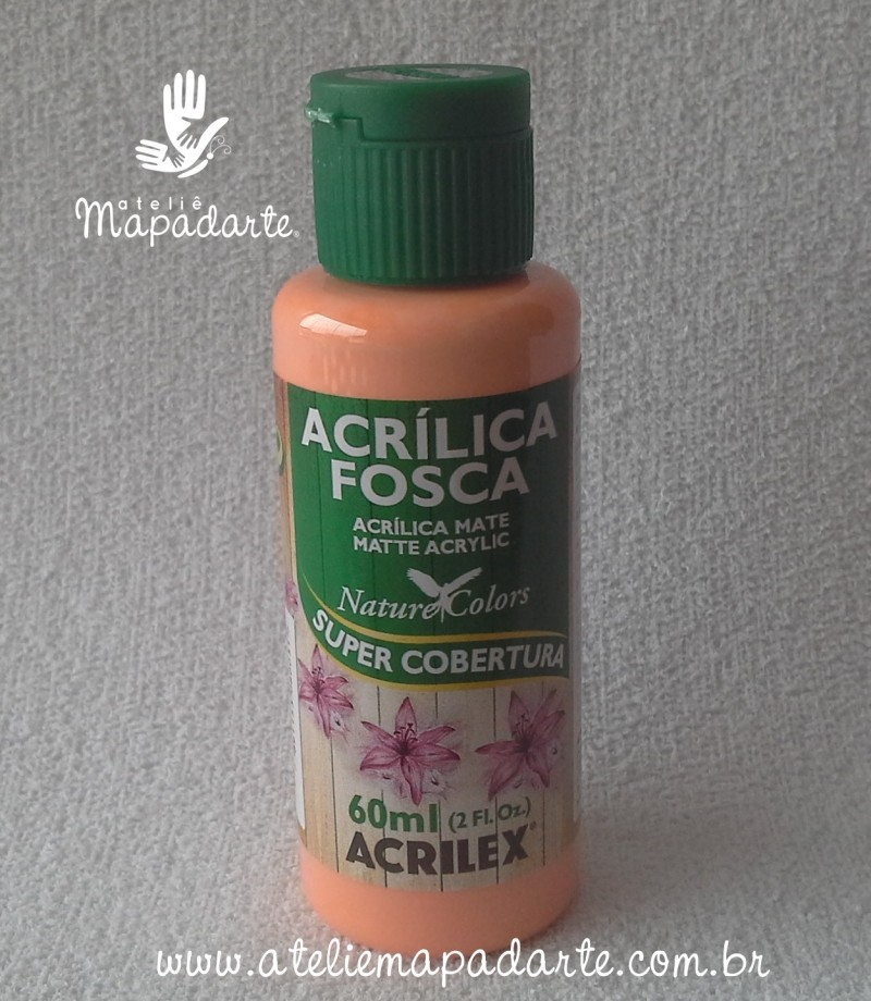 Foto 1 - Cód M1410 Tinta acrílica fosca salmão nature colors 60 ml (518)