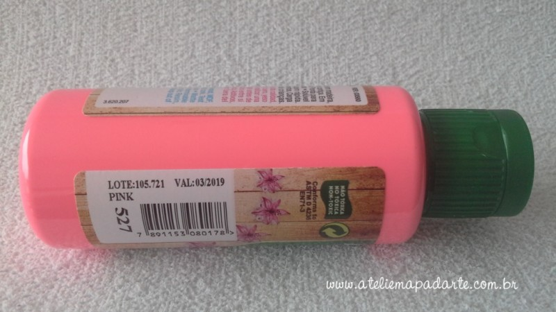 Foto2 - Cód M1412 Tinta acrílica fosca pink nature colors 60 ml (527)