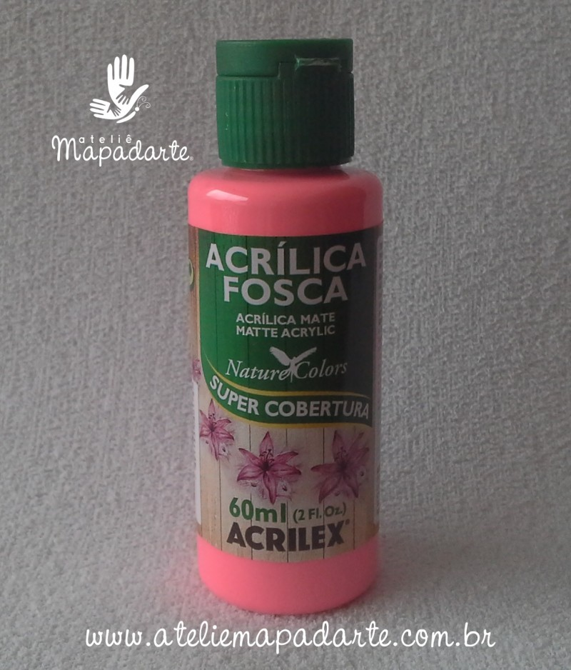 Foto1 - Cód M1412 Tinta acrílica fosca pink nature colors 60 ml (527)