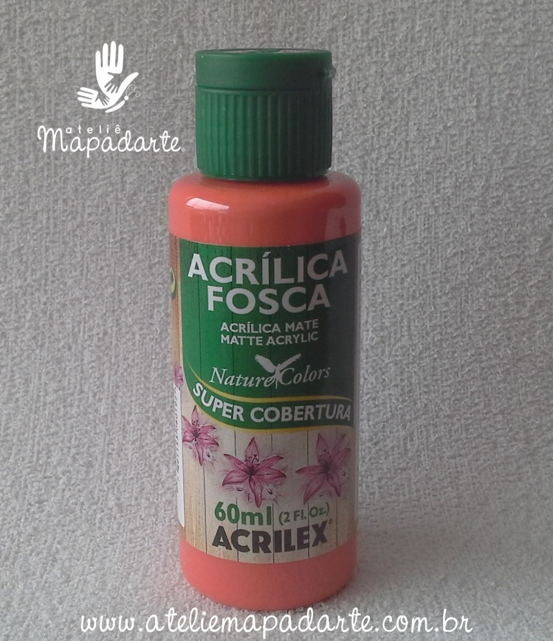 Foto 1 - Cód M1413 Tinta acrílica fosca coral nature colors 60 ml (586)