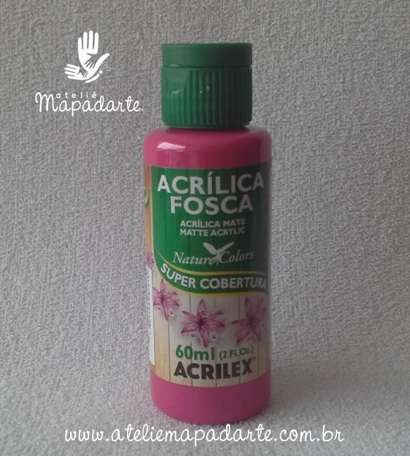 Foto 1 - Cód M1414 Tinta acrílica fosca fuchsia nature colors 60 ml (804)