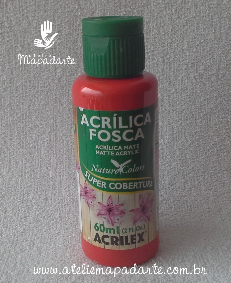 Foto 1 - Cód M1416 Tinta acrílica fosca vermelha nature colors 60 ml (555)