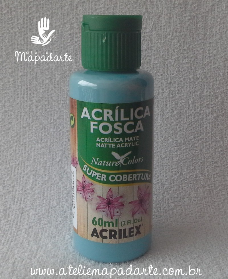 Foto 1 - Cód M1422 Tinta acrílica fosca acqua marina nature colors 60 ml (803)