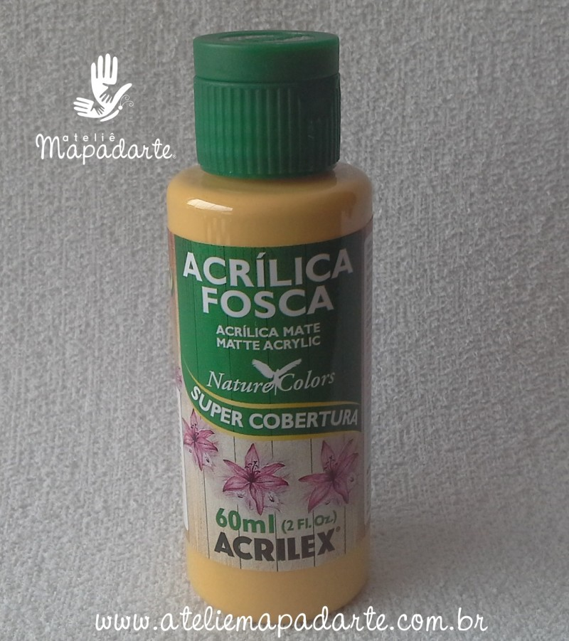 Foto 1 - Cód M1425 Tinta acrílica fosca camurça nature colors 60 ml (525)