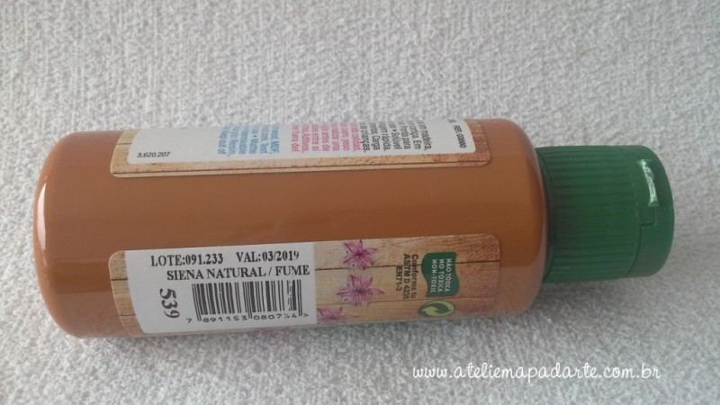 Foto2 - Cód M1428 Tinta acrílica fosca siena natural nature colors 60 ml (539)