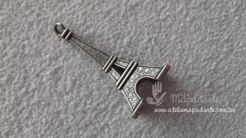 Foto 1 - Cód M1440 Torre Paris mini cor prata 01 un (pingente)