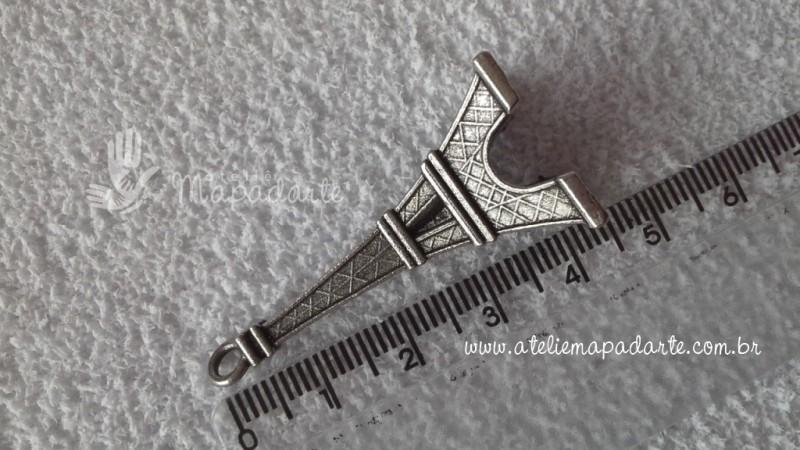 Foto2 - Cód M1440 Torre Paris mini cor prata 01 un (pingente)
