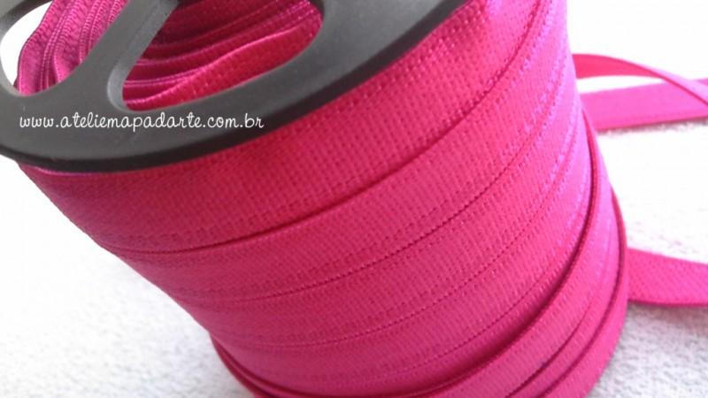 Foto2 - Cód M155 Elástico rosa pink chato 1 mt
