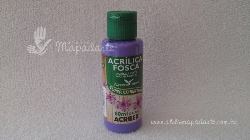 Foto 1 - Cód M1495 Tinta acrílica fosca violeta nature colors 60 ml (516)