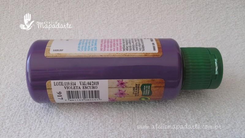 Foto2 - Cód M1498 Tinta acrílica fosca violeta escuro nature colors 60 ml (917)