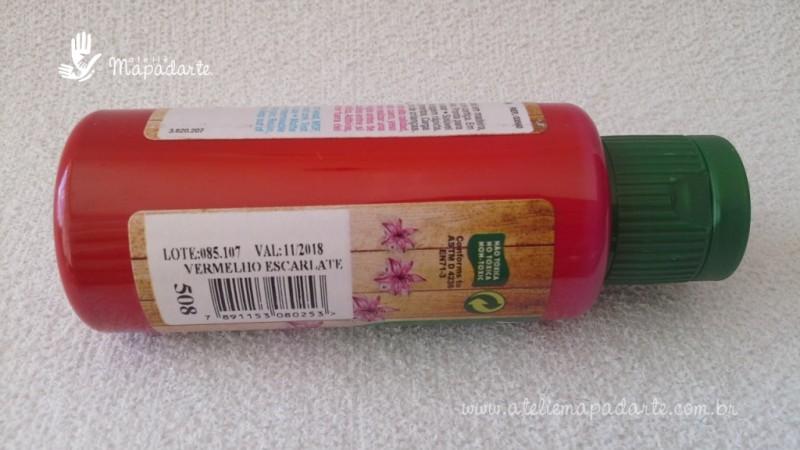Foto2 - Cód M1499 Tinta acrílica fosca vermelho escarlate nature colors 60 ml (508)