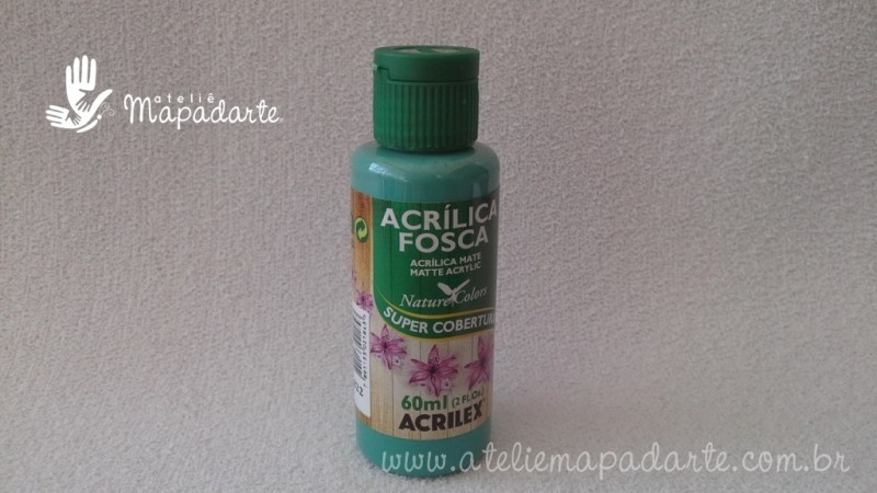 Foto 1 - Cód M1501 Tinta acrílica fosca verde country nature colors 60 ml (822)