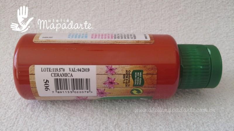 Foto2 - Cód M1506 Tinta acrílica fosca cerâmica nature colors 60 ml (506)