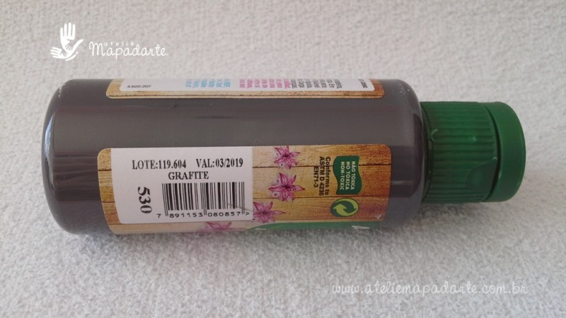 Foto2 - Cód M1507 Tinta acrílica fosca grafite nature colors 60 ml (530)