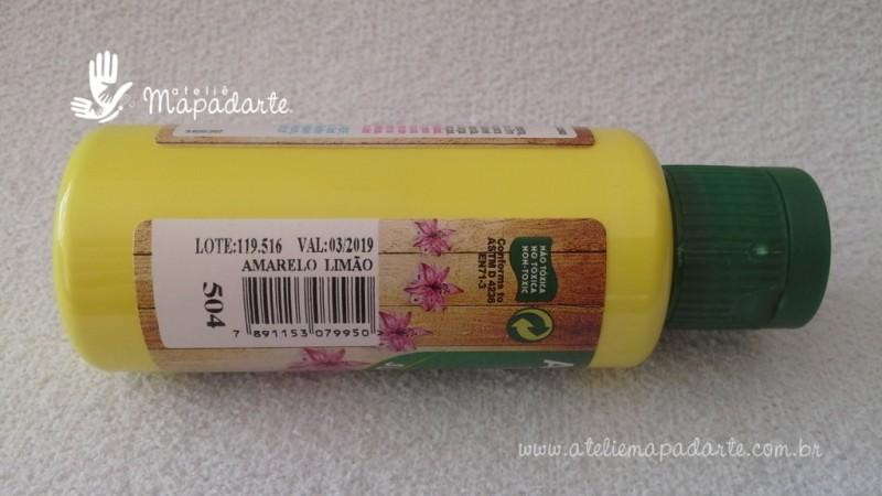 Foto2 - Cód M1510 Tinta acrílica fosca amarelo limão nature colors 60 ml (504)