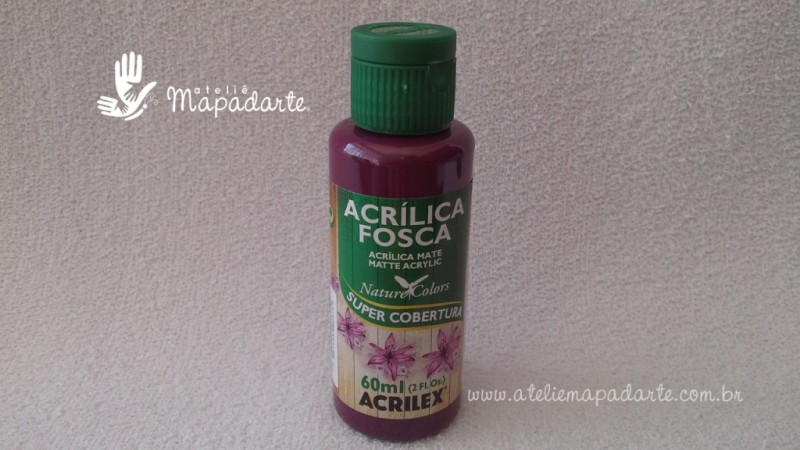 Foto1 - Cód M1516 Tinta acrílica fosca vinho nature colors 60 ml (565)