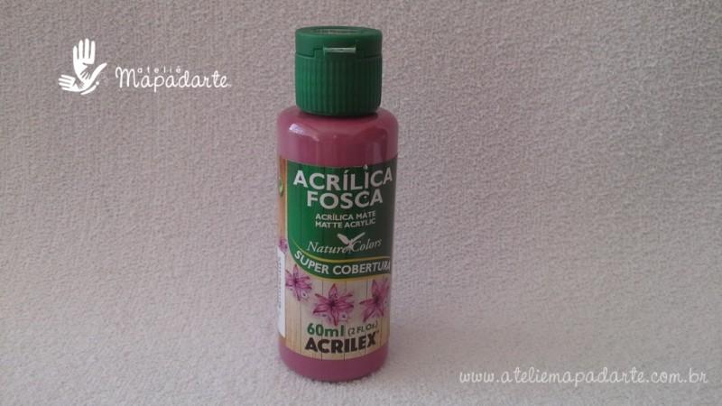Foto 1 - Cód M1517 Tinta acrílica fosca rosa ciclame nature colors 60 ml (581)