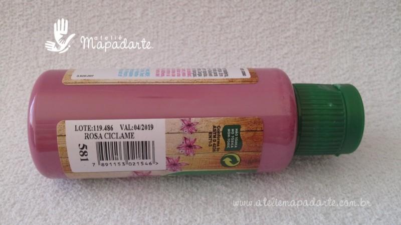 Foto2 - Cód M1517 Tinta acrílica fosca rosa ciclame nature colors 60 ml (581)