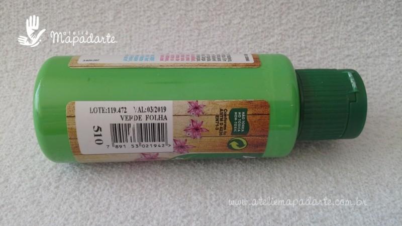 Foto2 - Cód M1527 Tinta acrílica fosca verde folha nature colors 60 ml (510)