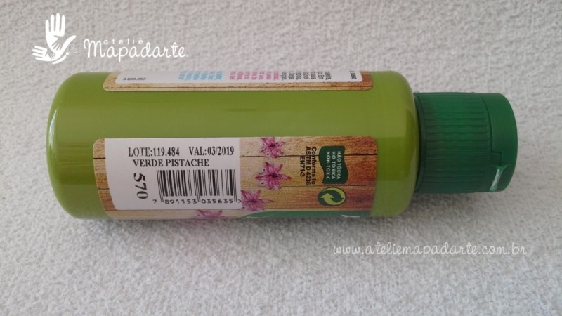 Foto2 - Cód M1528 Tinta acrílica fosca verde pistache nature colors 60 ml (570)