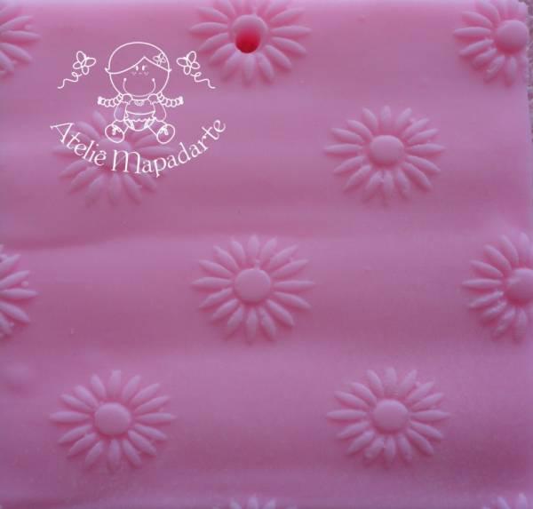 Foto 1 - Cód M153 Rolo de textura florzinha