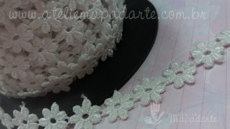 Foto 1 - Cód M1530 Renda guipir branco ( margarida ) 1 mt