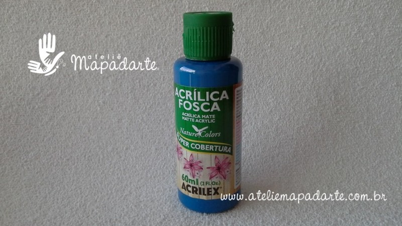 Foto 1 - Cód M1561 Tinta acrílica fosca azul nature colors 60 ml (559)