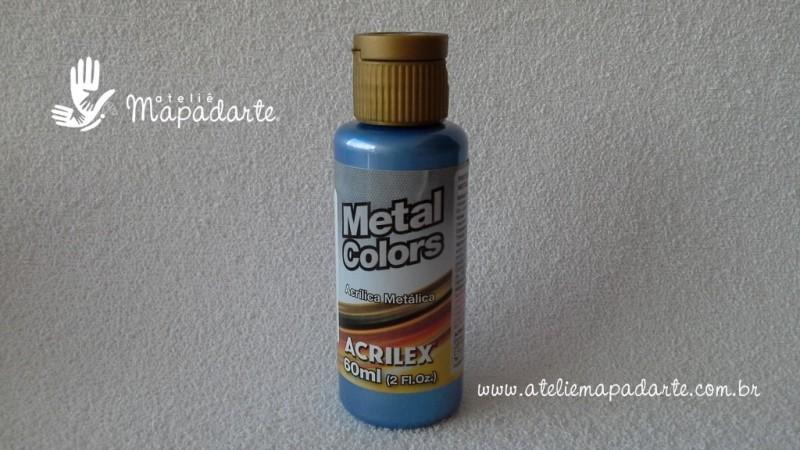 Foto 1 - Cód M1564 Tinta acrílica metálica azul mar metal colors 60 ml (535)