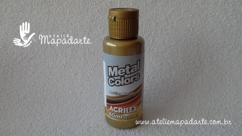 Foto 1 - Cód M1566 Tinta acrílica metálica bronze metal colors 60 ml (556)
