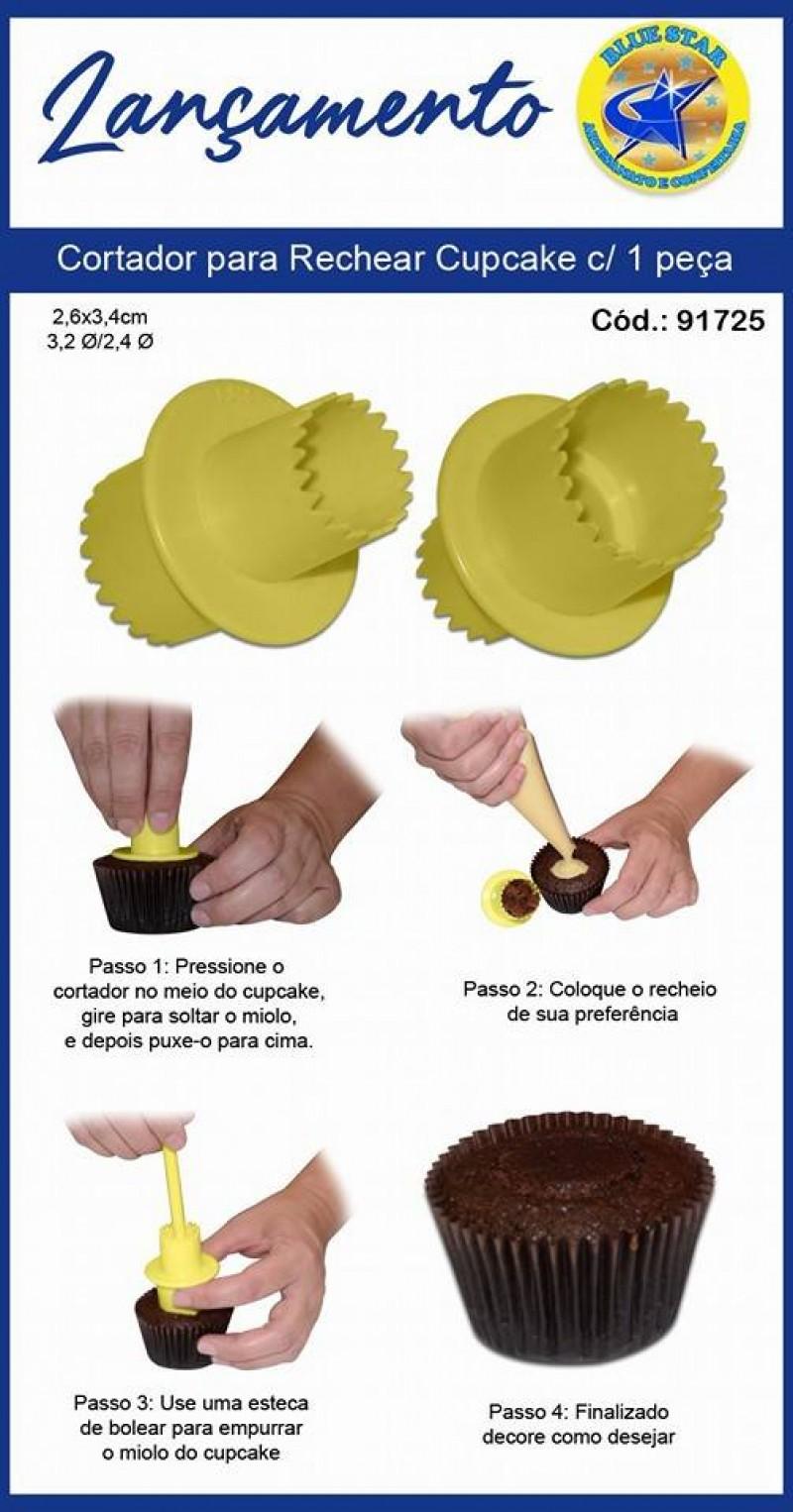 Foto3 - Cód M1580 Cortador para rechear cupcake 01 un Blue Star