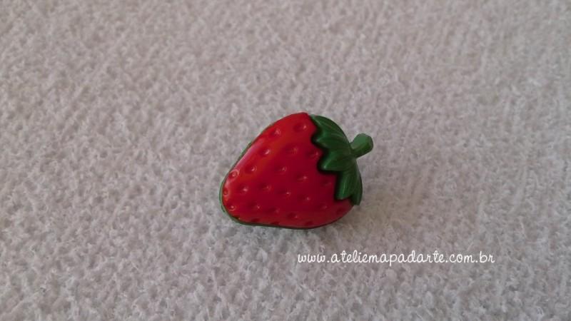 Foto 1 - Cód M1608 Botão morango com 10 un