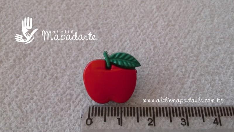 Foto2 - Cód M1609 Botão maçã com 10 un