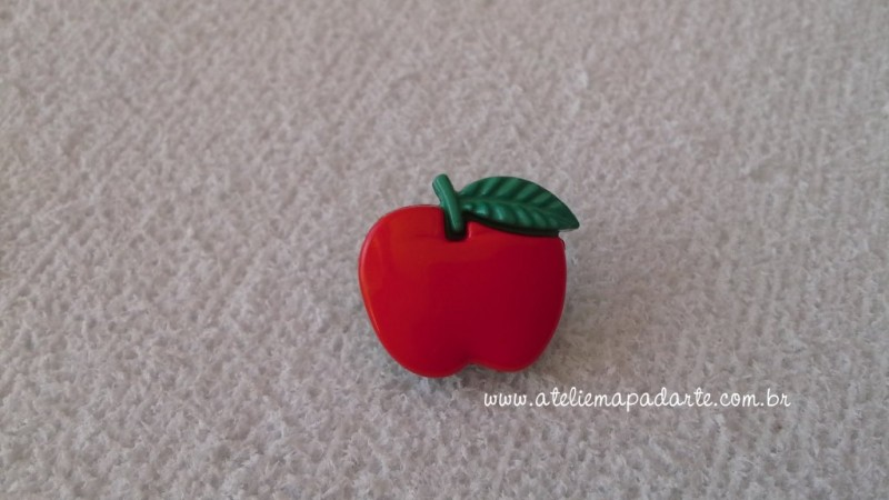Foto 1 - Cód M1609 Botão maçã com 10 un