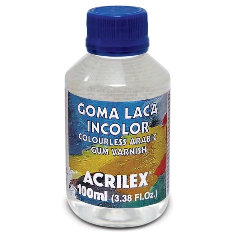 Foto2 - Cód M1629 Goma laca incolor 100 ml Acrilex