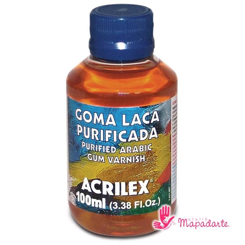 Foto 1 - Cód M1630 Goma laca purificada 100 ml Acrilex