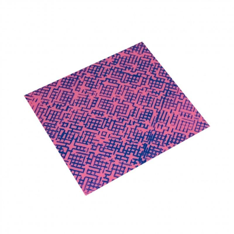 Foto2 - Cód M1644 Rolo individual marcador jeans 01 un (Blue Star) Em plástico