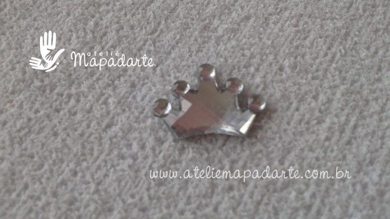 Foto 1 - Cód M1670 Coroa prata chaton 10 un