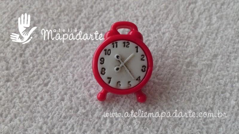 Foto 1 - Cód M1673 Botão relógio pink 10 un