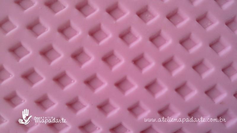 Foto2 - Cód M1694 Rolo de textura losango 20 cm 01 un