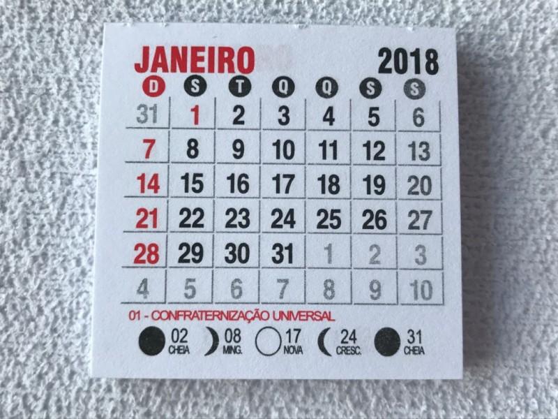 Foto 1 - Cód M173 Mini calendário 2018 com 10 un