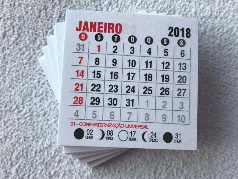Foto2 - Cód M173 Mini calendário 2018 com 10 un