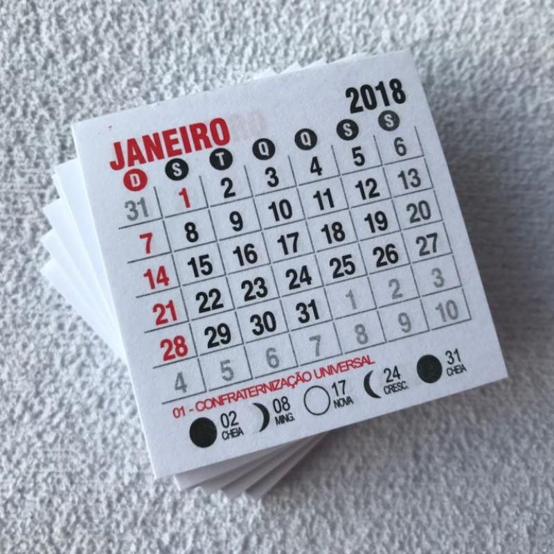 Foto3 - Cód M173 Mini calendário 2018 com 10 un