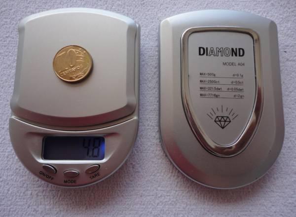 Foto 1 - Cód M175 Mini balança de precisão 500 g