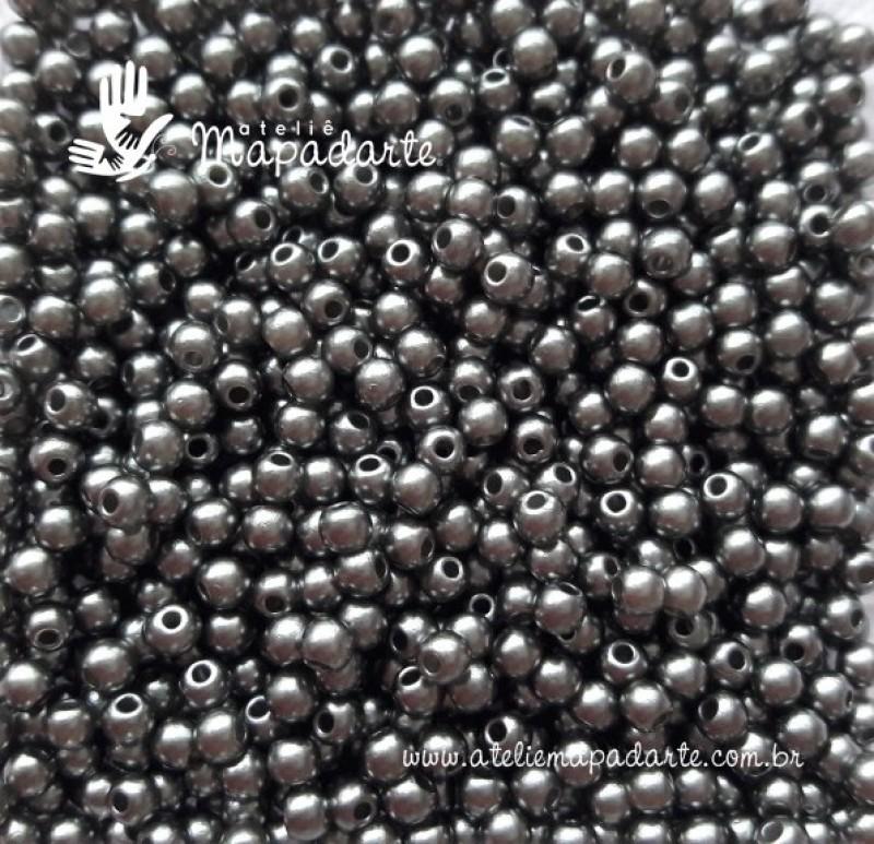 Foto 1 - Cód M1868 Pérola grafite 3mm 10gr