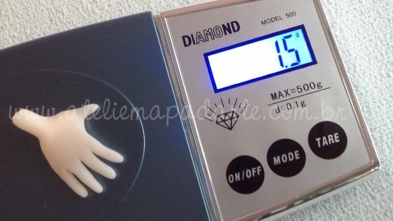 Foto2 - Cód M1874 Mini balança de precisão Diamond (retângular) 500 gr 01un