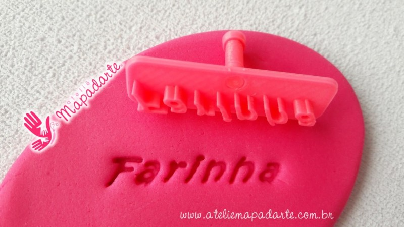 Foto 1 - Cód M1996 Carimbo farinha em plástico PLA 01un (AC)