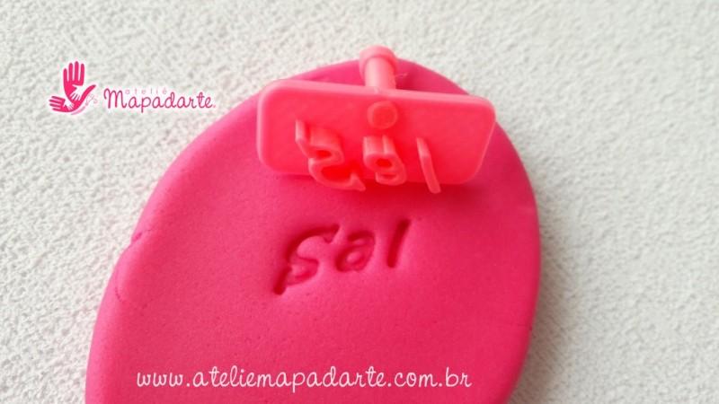 Foto 1 - Cód M2001 Carimbo sal em plástico PLA 01un (AC)