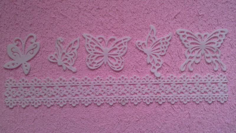 Foto3 - Cód M200 Molde renda de silicone borboletas (importado) 1 un