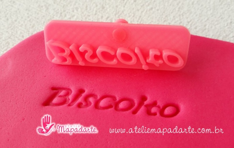 Foto 1 - Cód M2003 Carimbo biscoito em plástico PLA 01un ref. 327 (AC)