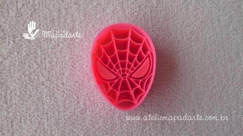 Foto2 - Cód M2004 Marcador rosto homem aranha em plástico PLA ref. 013-4 01 un (AC)